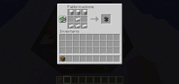 craftare un'incudine Minecraft