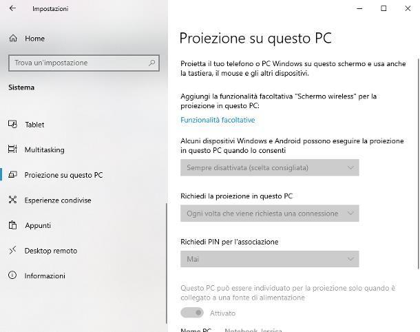 Come collegare PC fisso a schermo PC portatile
