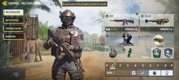 Equipaggiamento Call of Duty Mobile