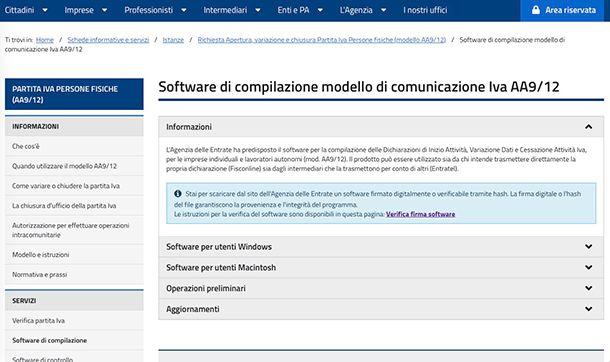 Come inviare modello AA9 12 Software di controllo