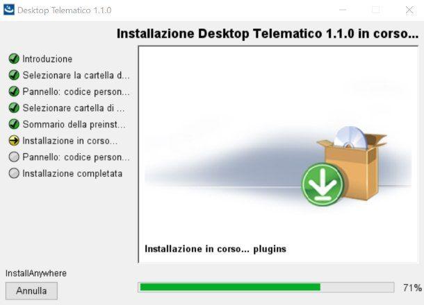 Installazione Desktop Telematico