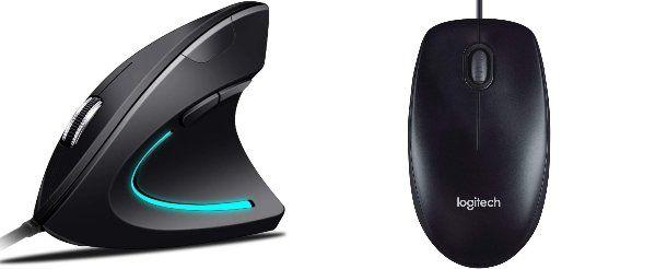 Forma, dimensione e peso del mouse per Mac