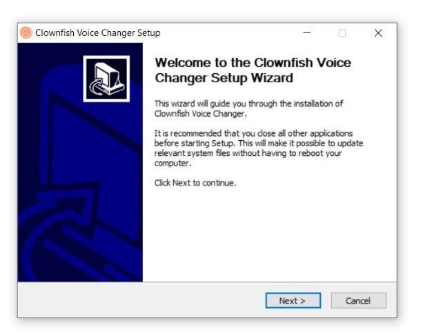 Clownfish Voice Changer installazione