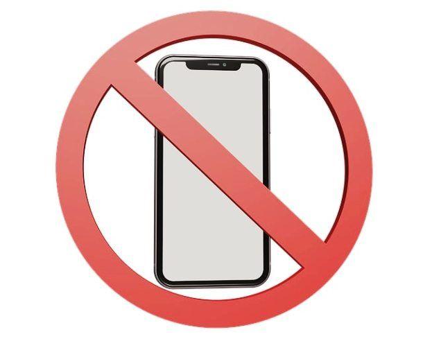 Smartphone proibito
