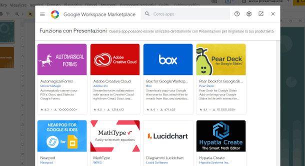 Plugin Google Presentazioni