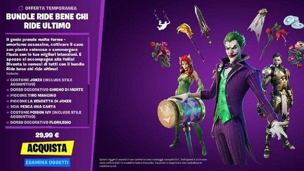 Come sbloccare Joker su Fortnite