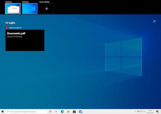 Desktop virtuali Windows 10