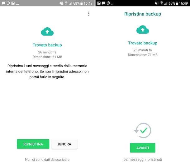Recupero registrazioni audio WhatsApp