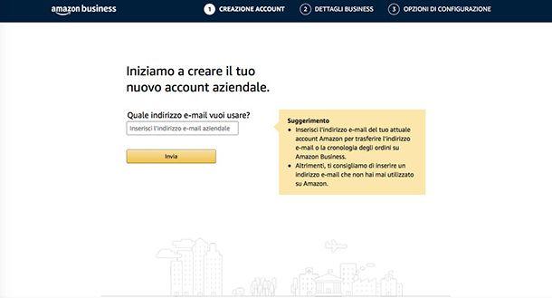 Come funziona Amazon Business creazione account