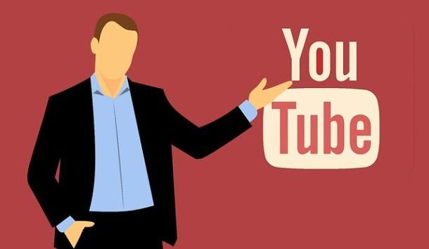 Omino con logo YouTube
