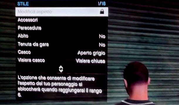 Come modificare aspetto personaggio GTA Online