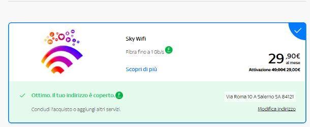 Offerte di Sky Wifi