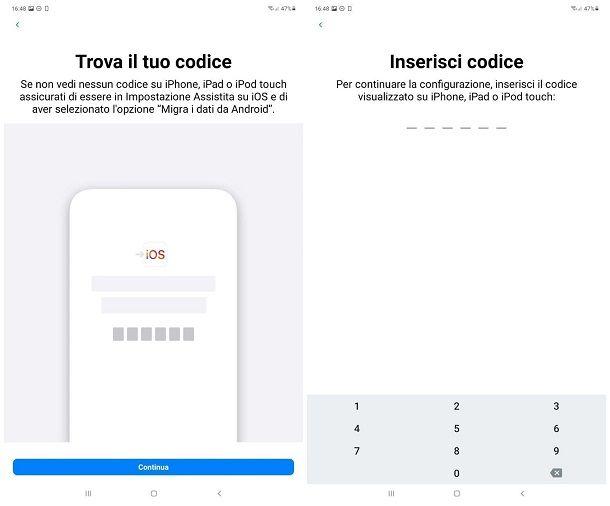 Passare tutti i dati da Android a iPhone