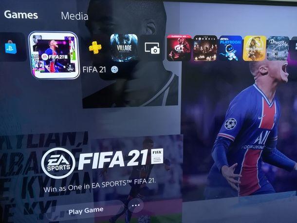 Scaricare la versione digitale di FIFA per PS4 su PS5