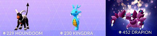 Houndoom Kingdra Drapion Pokemon GO