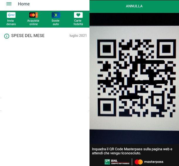 pagamento qr code bnl