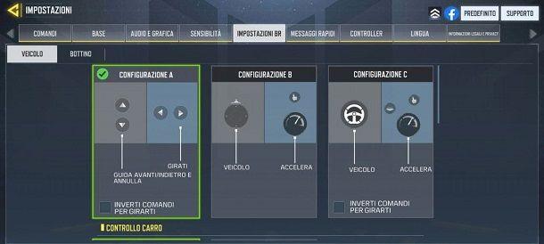 Comandi veicoli Battle Royale COD Mobile
