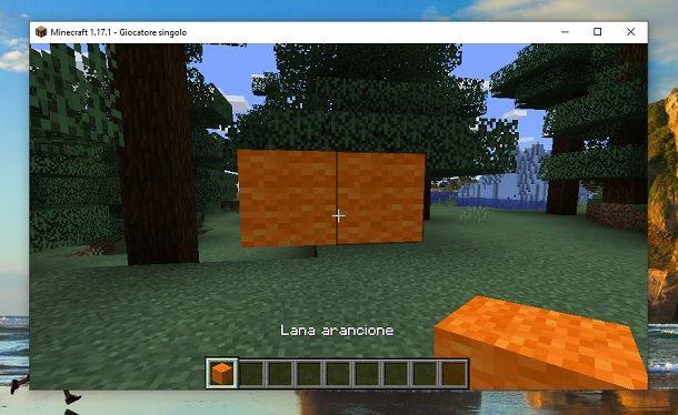 Secondo blocco Lana Minecraft
