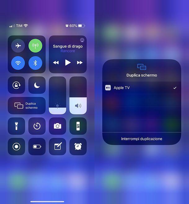 Come condividere schermo su TV con iPhone