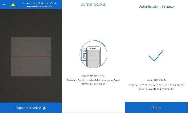 Scansione codice QR CieID