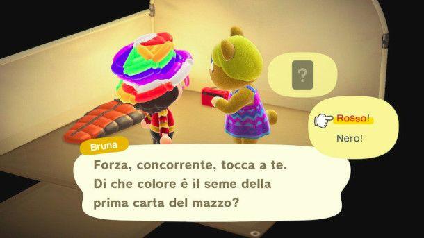 dialogo con un abitante in visita in Animal Crossing: New Horizon