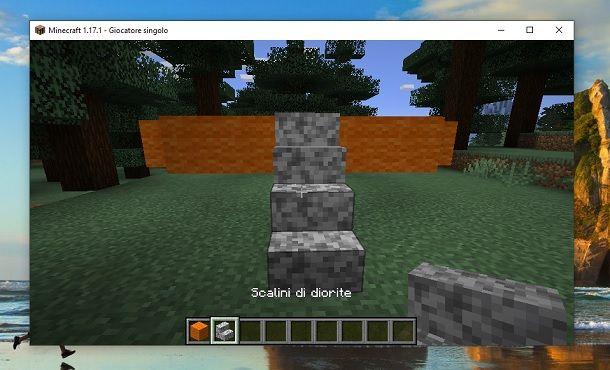 Scalini di diorite Minecraft