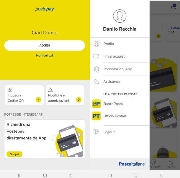 Cosa sapere prima di aggiungere una nuova carta come preferita su app Postepay