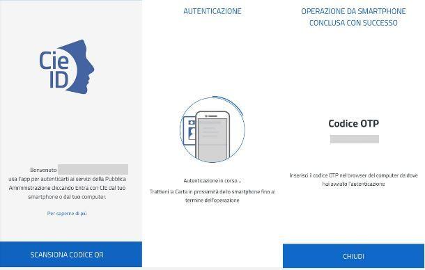 Scansione del codice QR con CieID