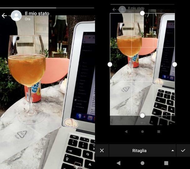 Salvare foto con screenshot