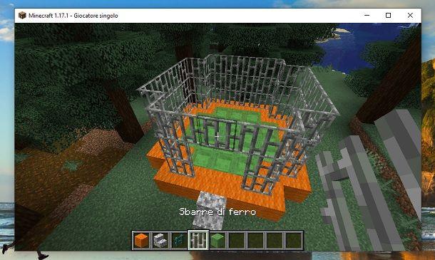 Trampolino finito Minecraft