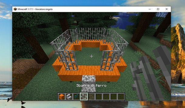 Sbarre di ferro Minecraft