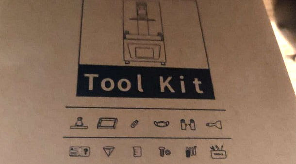 Tool Kit Stampante 3D resina