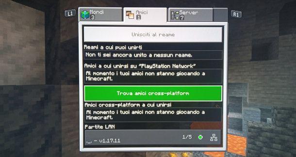 Minecraft PS4 aggiungere amici