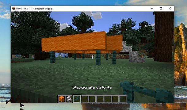 Staccionata distorta Minecraft
