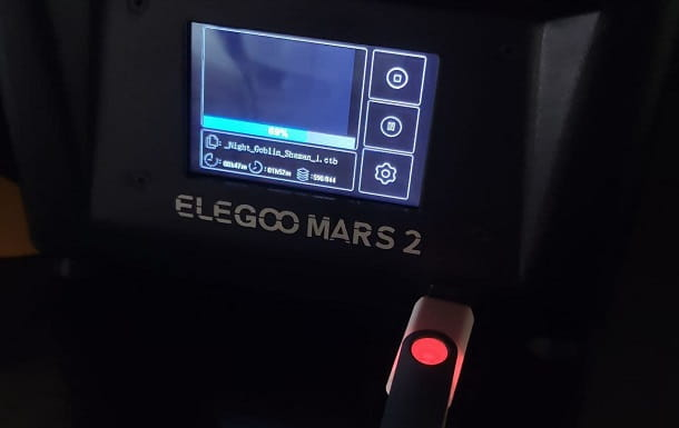 Chiavetta USB stampante 3D resina