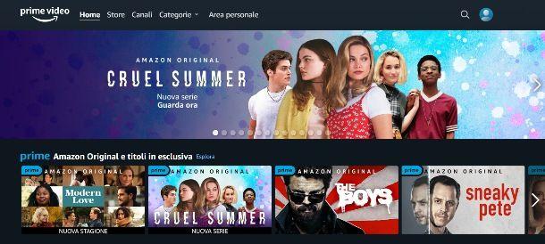 Informazioni preliminari su Amazon Prime Video
