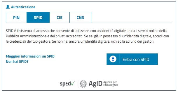 Accedere a MyINPS