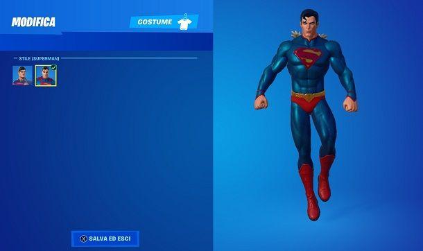 Come usare la skin di Superman su Fortnite