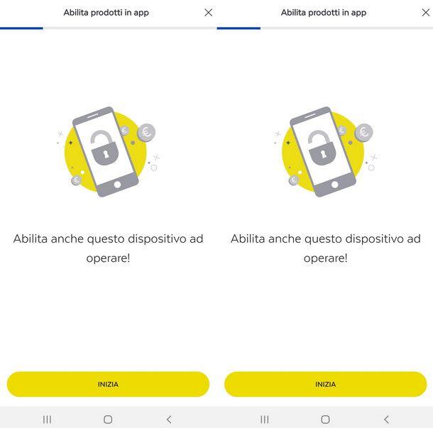 Abilitare un nuovo dispositivo all'app Postepay