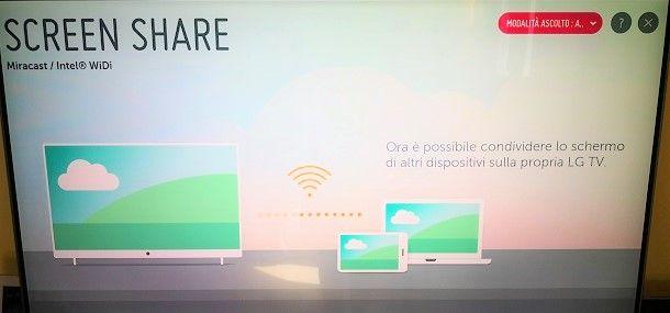 Come condividere schermo Android su TV