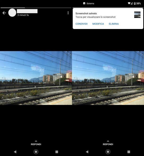 Screenshot foto stato WhatsApp Android