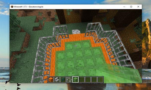 Trampolino funzionante Minecraft