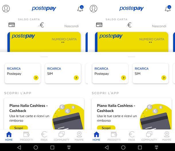 Cambiare dispositivo di utilizzo dell'app Postepay