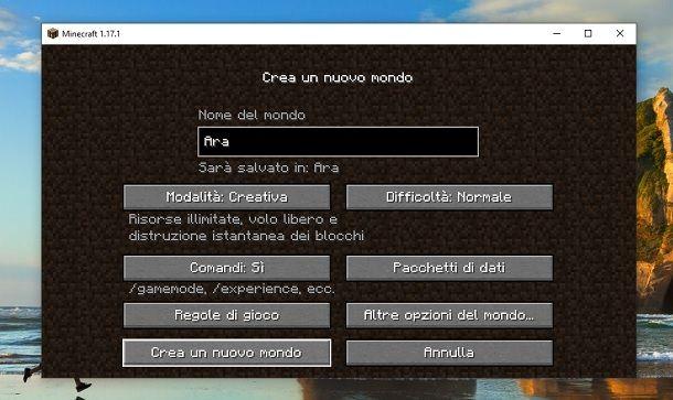 Creativa trucchi Minecraft