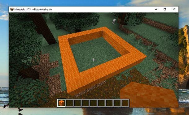 Quadrato lana Minecraft