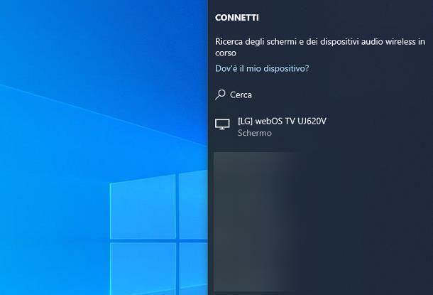 Come condividere schermo PC su TV