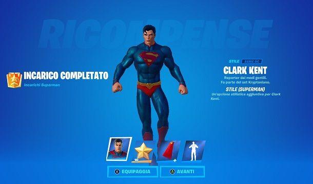 Come sbloccare la skin di Superman su Fortnite