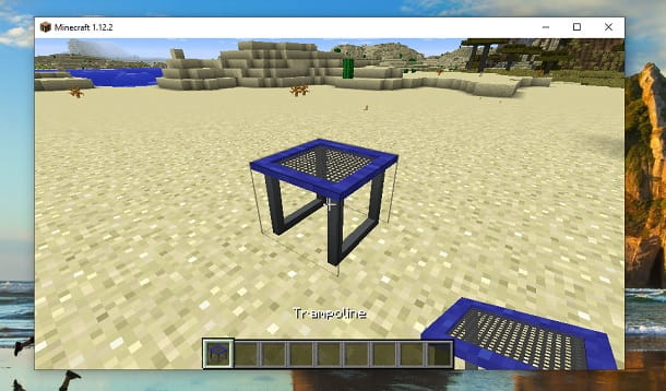 Trampolino mod Minecraft