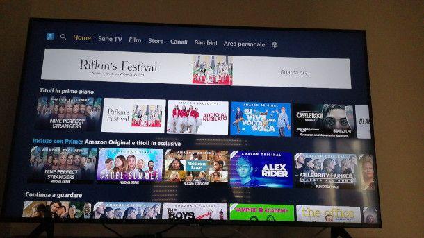 Amazon Prime Video su Smart TV