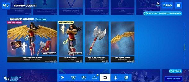 Negozio Wonder Woman Bundle Fortnite